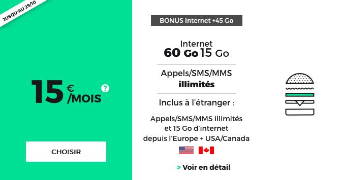 Forfait mobile pas cher promotion 4G.