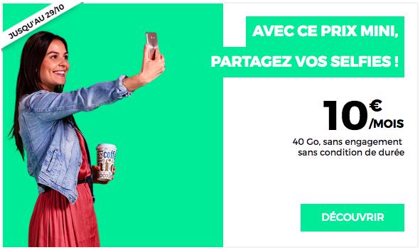 Le forfait à 10€ de RED by SFR.
