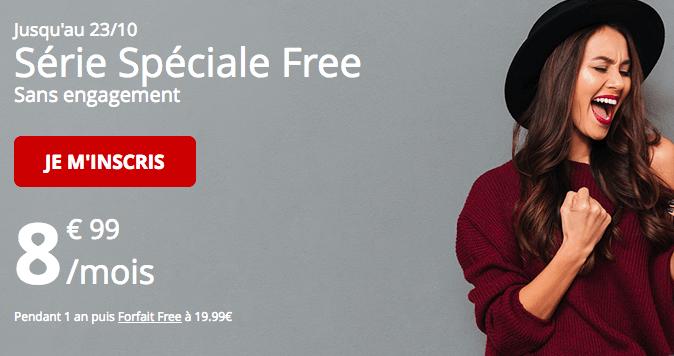 Free promotion forfait mobile série spéciale.