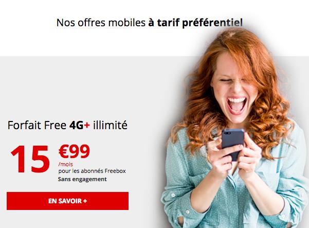 Le forfait 4G illimitée de Free Mobile.