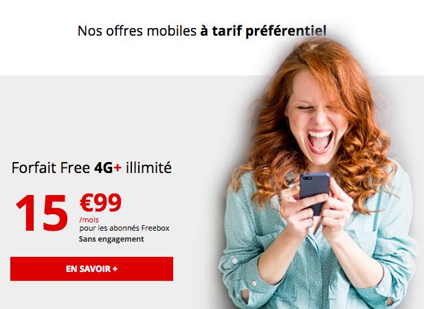 La 4G illimitee de Free mobile.