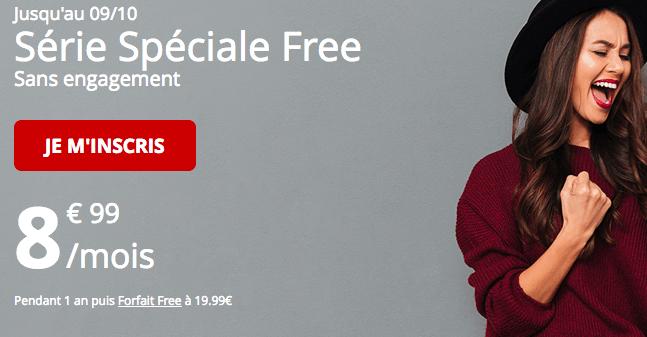 Forfait mobile Free promotion série spéciale.