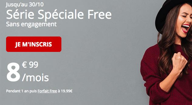 Forfait mobile Free promotion