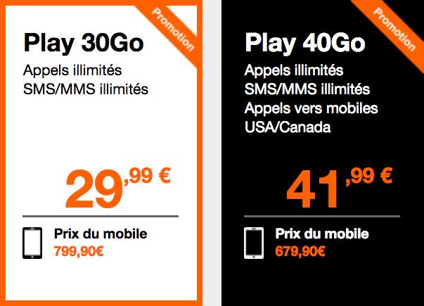 Les offres d'Orange pour un iPhone XS.