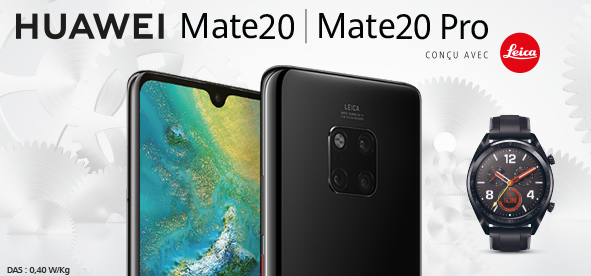 Nouveau smartphone de Huawei, Mate 20 Pro, avec forfait sans engagement.