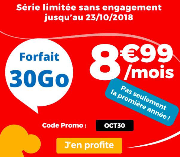 La promotion 30 Go de Auchan Télécom.