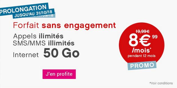 Coriolis Telecom promotion forfait mobile 40 Go 4G.