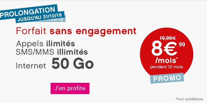 Coriolis Telecom promotion forfait mobile sans engagement.