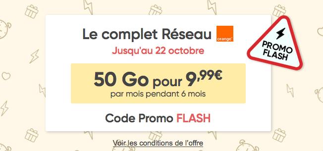 Promotion forfait mobile Le Complet Prixtel.