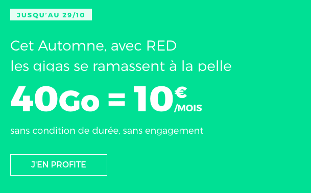 Promotion forfait mobile RED by SFR.