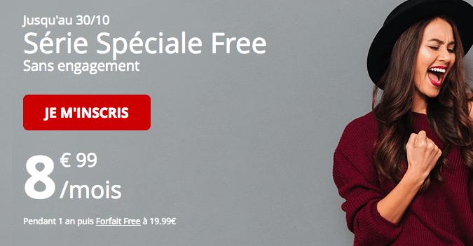 Promotion forfait mobile free