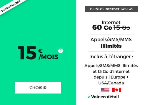 RED by SFR et le forfait 4G pas cher à vie.