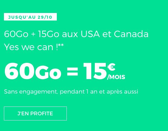 60 Go de 4G avec ce forfait pas cher, illimité et sans engagement de RED by SFR.