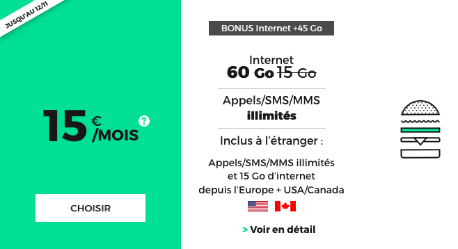 RED y SFR promotion forfait mobile.