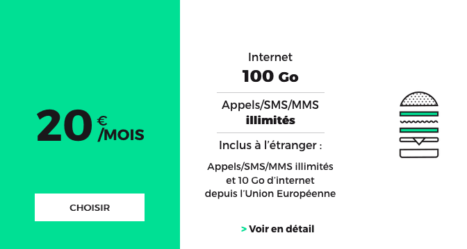Forfait mobile sans engagement RED by SFR en promotion.