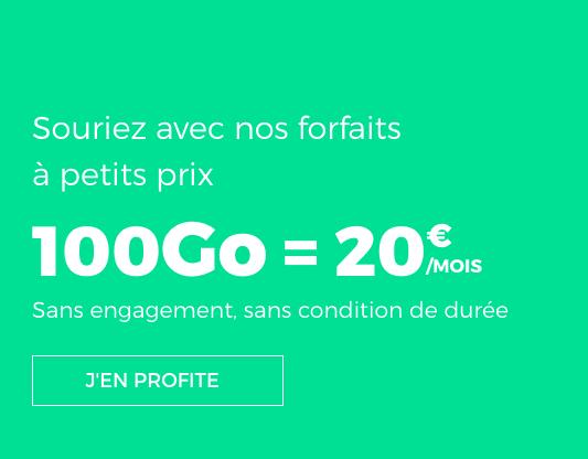 RED by SFR propose 100 Go en 4G avec un forfait illimité et pas cher.