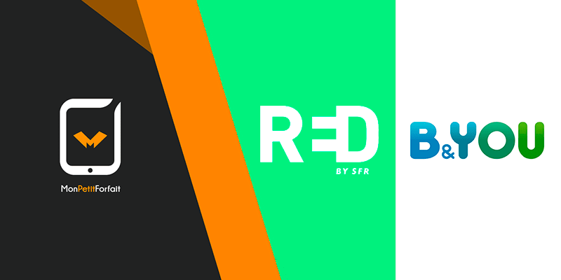 Forfait sans engagement et pas cher chez B&YOU et RED by SFR
