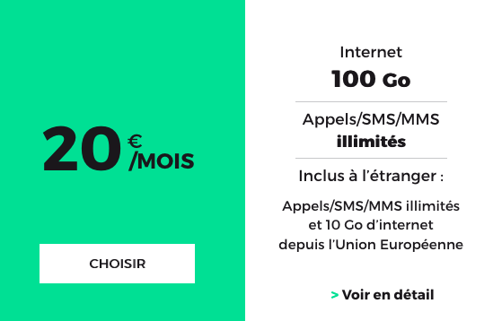 Navigation Internet avec 100 Go de 4G avec le forfait illimité de RED by SFR.