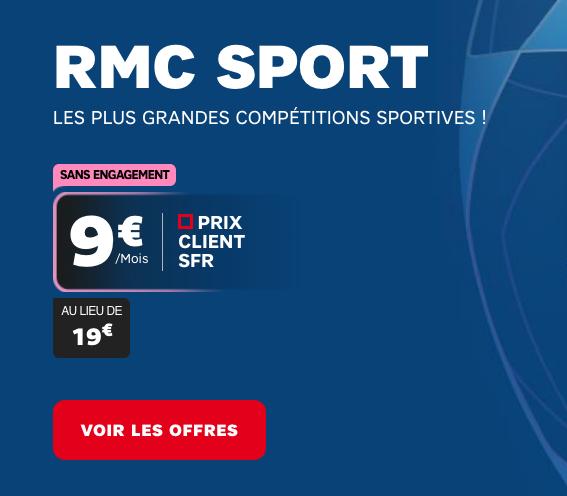 RMC Sport à tarif réduit avec le forfait illimité Power 50 Go en promotion.