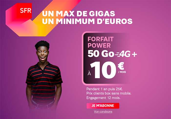 Forfait SFR Power Black Friday