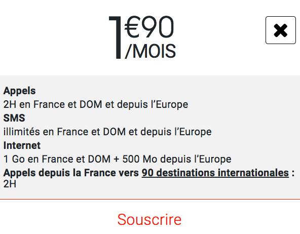Syma Mobile propose 1 Go d'Internet 4G avec un forfait pas cher à 2€/mois.