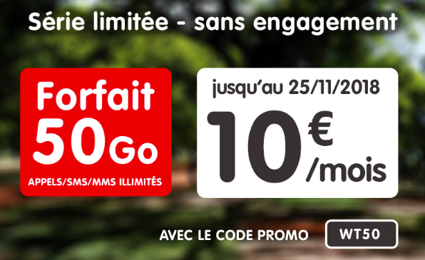50 Go à 10€ avec NRJ Mobile.