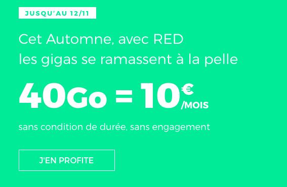 40 Go à 10€ avec RED by SFR.