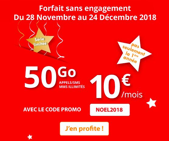Le forfait de Noeël Auchan telecom.