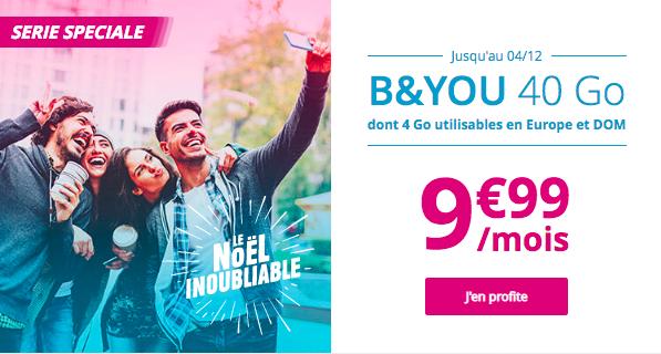 40 Go à 9,99€ avec B&YOU.