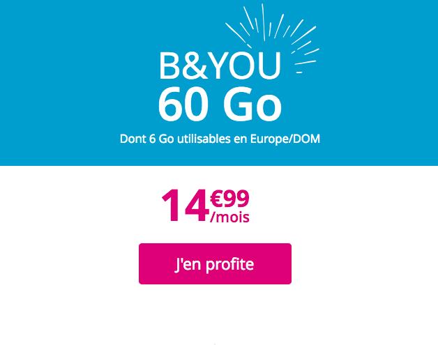 Le forfait B&YOU 60 Go.