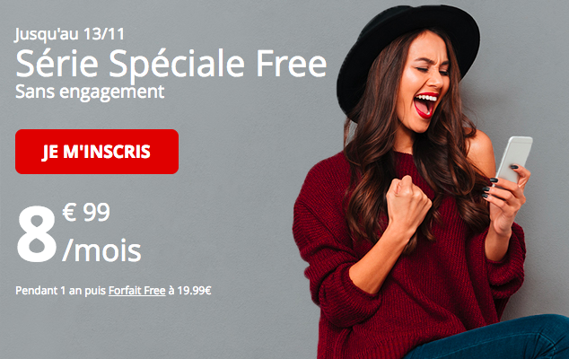 La forfait Free mobile riche de 60 Go.