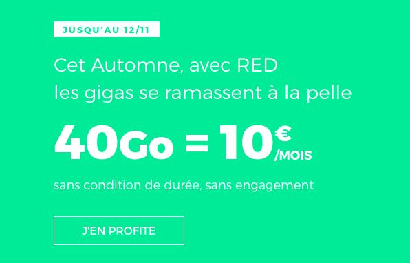 Le forfait RED by SFR à 10€.