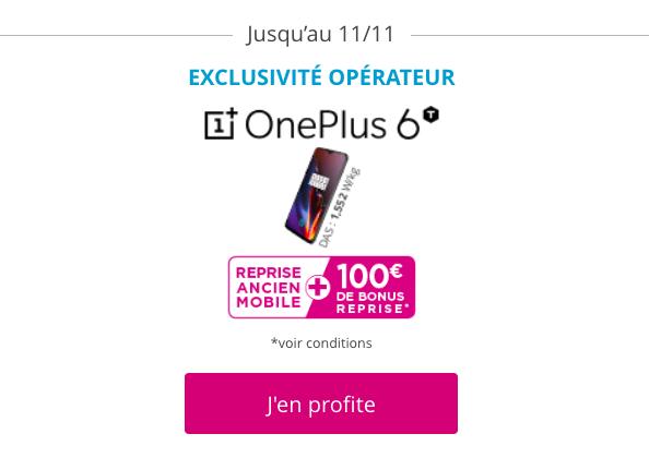 Le bonus de reprise sur le OnePlus 6T.