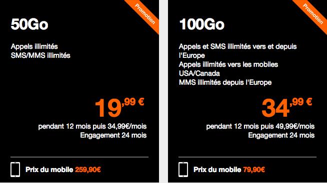 Les forfaits Orange avec le prix du Samsung Galaxy S9+.