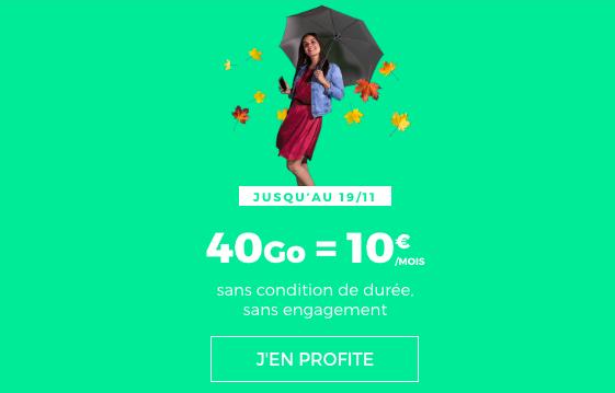 Le forfait en promotion de RED by SFR.