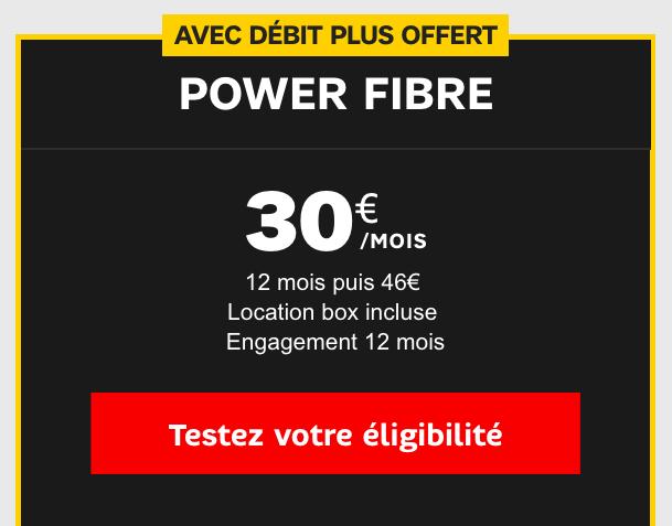 La box internet Power de SFR.