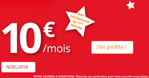 Pas cher le forfait Auchan Telecom avec 50 Go de 4G.