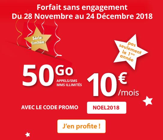 Forfait pas cher avec 50 Go de 4G chez Auchan Telecom, sans engagement.