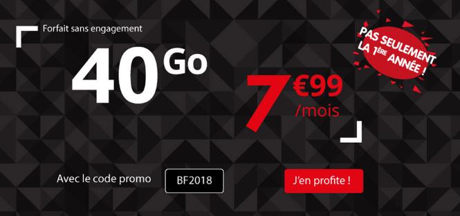 Auchan Télécom promotion forfait mobile pour le Black Friday.