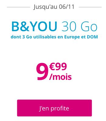 Bouygues promo sur B&YOU.