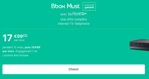 Bbox Must Promotion box internet fibre optique Bouygues Telecom.