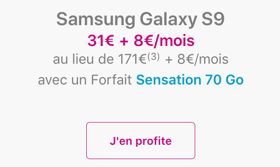 Galaxy S9 de Samsung pas cher avec le Black Friday de Bouygues Telecom.