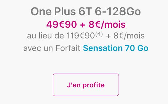 OnePlus 6T pas cher pour le Black Friday chez Bouygues Telecom.