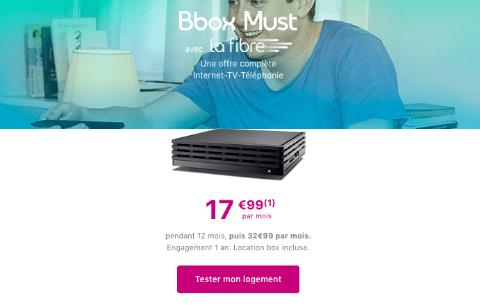 Box internet fibre optique bouygues telecom promotion.