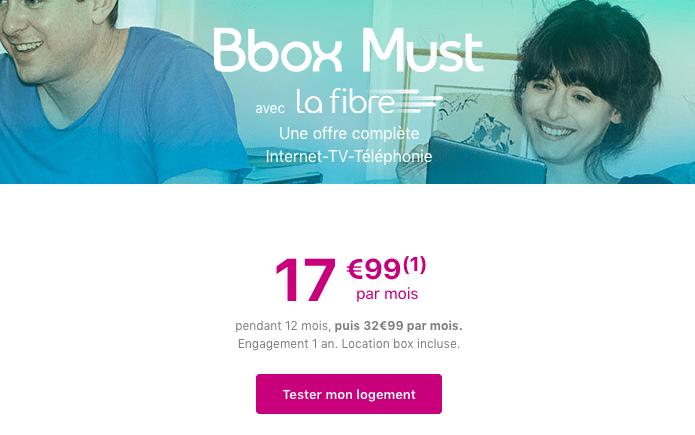 La BBox Must avec la fibre optique en promotion chez Bouygues Telecom.