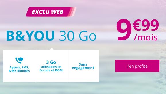Forfait illimité à vie en promotion chez Bouygues Telecom.