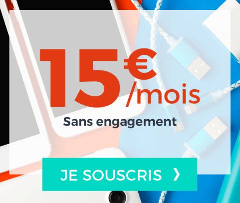 15€ pour 40 Go de 4G chez Cdiscount Mobile avec ce forfait pas cher.