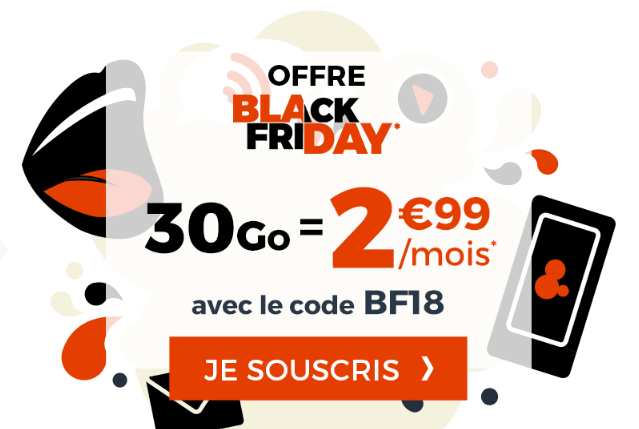 Promotion Black Friday Cdiscount mobile forfait pas cher.