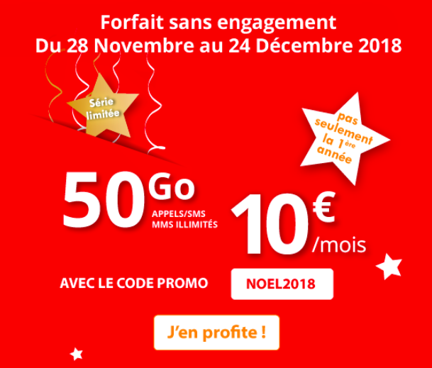 Le forfait de Noël Auchan Telecom.
