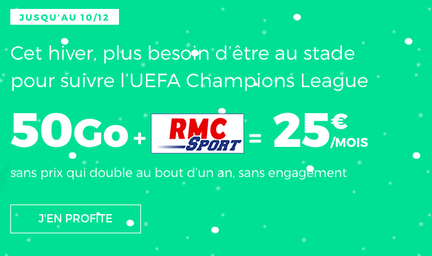 RED by SFR forfait mobile riche en 4G promotion.